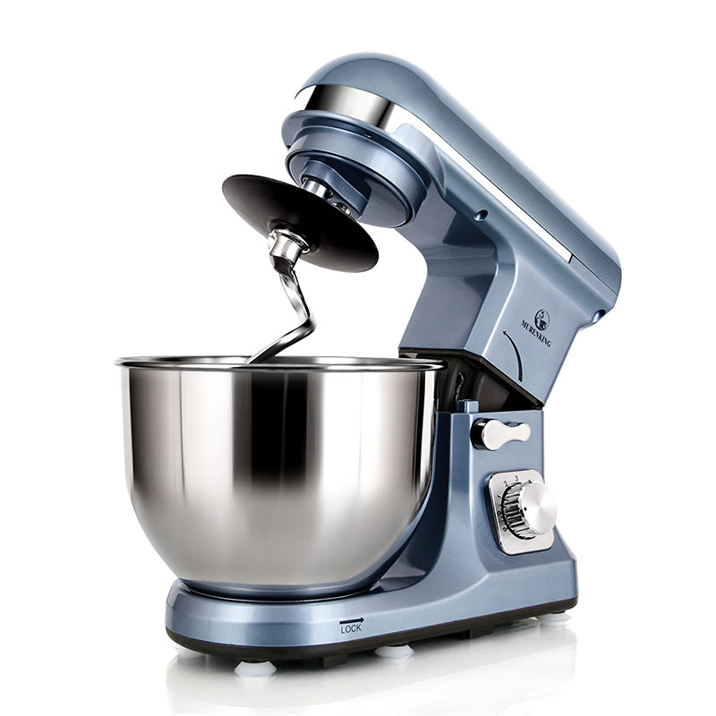 Professional 1000W Tilt-Head Plastic Stand Mixer 5L Bowl 6-Speed MK-37